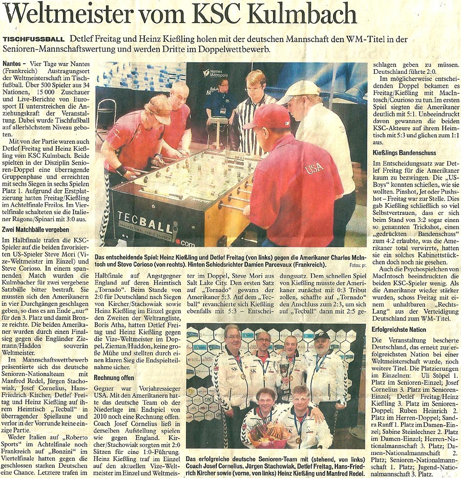 Weltmeister vom KSC Kulmbach